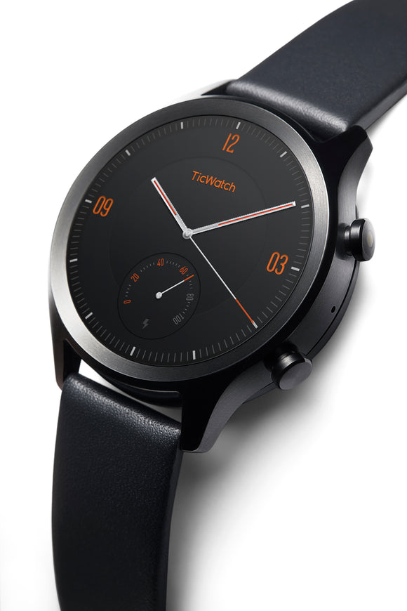 TicWatch C2, Wear OS by Google Classic smartwatch, IP68 Sweat and Waterproof, Google Pay, Compatible with iPhone and Android- Onyx (Black) - Eshopping Mantra