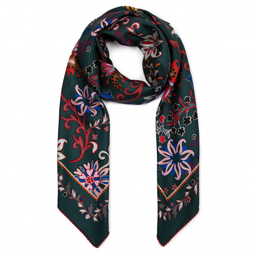 Esarfa de matase Mountain Floral Big Tory Burch