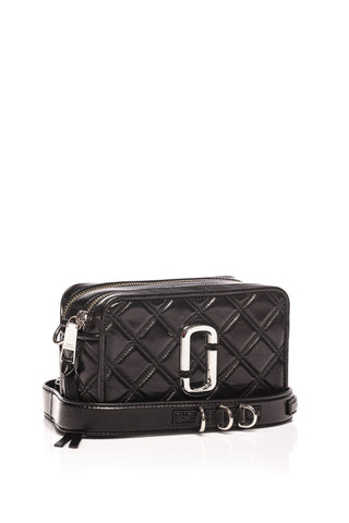 Geanta de piele The Quilted Softshot 21 Marc Jacobs