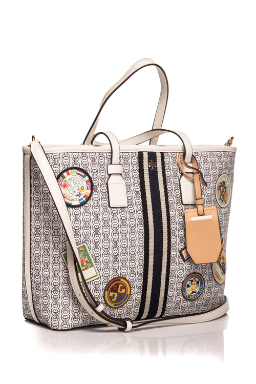 Geanta Tote Gemini Link Patches Small Tory Burch