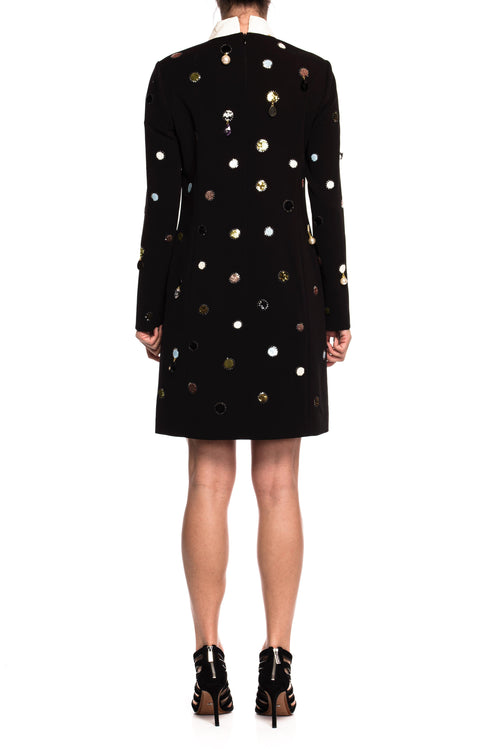 Rochie de matase Jewel Embroidered Shift Tory Burch