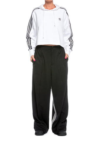 Hanorac alb din bumbac Cropped Adidas Originals