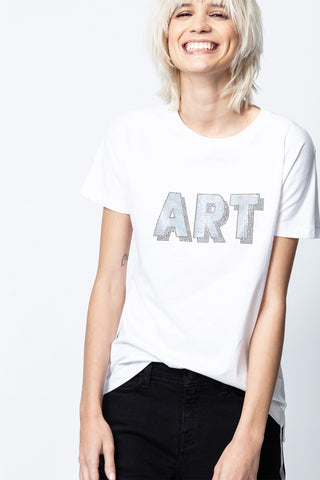 Tricou Tom Art 3D Strass Zadig & Voltaire