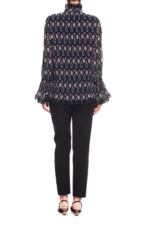 Top Printed Deneuve Tory Burch