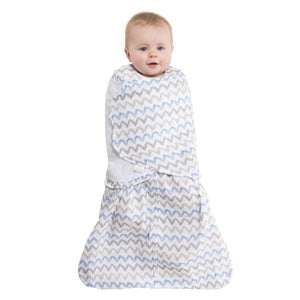 Sleepsack Cotton Muslin Blue Chevron