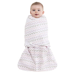 Sleepsack Cotton Muslin Pink Chevron
