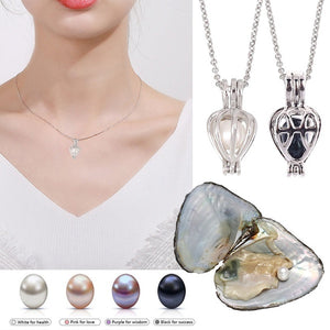 Freshwater Oyster Peal Necklace Set