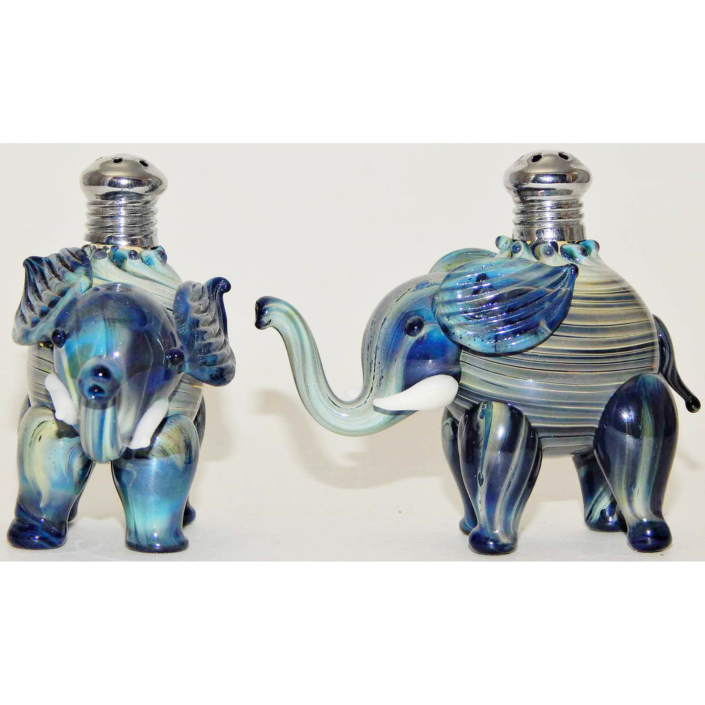 Four Sisters Art Glass, Blown Glass Salt and Pepper Shakers