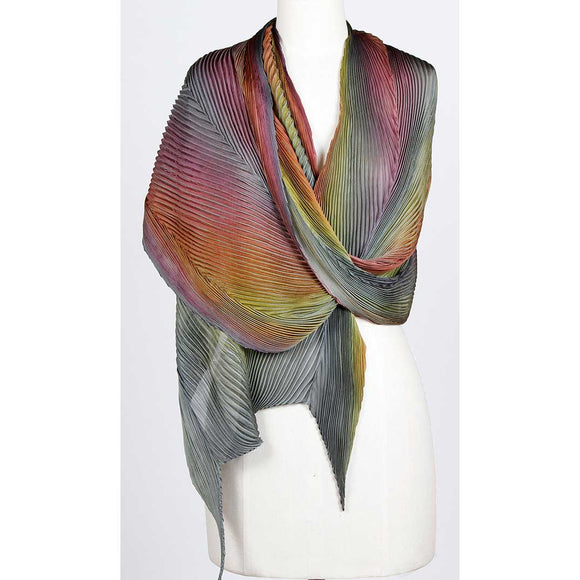 Cathayana Silk Shawl, Handmade Apparel in the USA