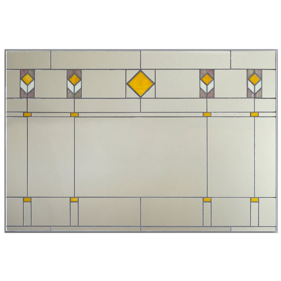 Victoria Primicias Prairie Style Stained Glass Mirrors
