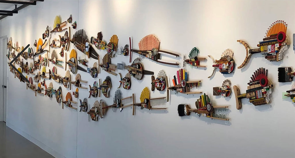 Fish Wall Art Sculptures by Stephen Palmer of Running Dog Studio