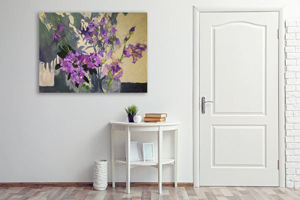 Flower-Paintings-Floral-Paintings-Lila-Bacon-Artist-Painter-Rhododendron-Iris-and-Shadows-Interior