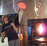 Jake Pfeifer, Hot Glass Alley Profile in Studio Blowing Glass