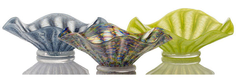 Mike (Michael) Hudson Glass Artist, Artisan Handblown Art Glass Flutter Bowls