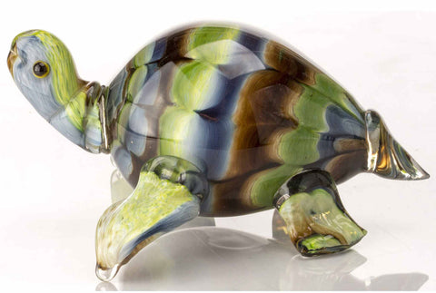 Mike (Michael) Hudson Glass Artist, Artisan Handblown Art Glass Turtles