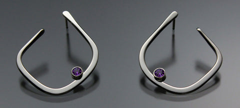 Amethyst Earrings EAR050SSAM Sterling Silver or 14K Gold by John Tzelepis Jewelry