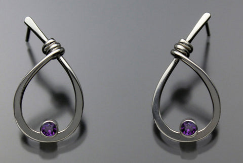 John-Tzelepis-Jewelry-Sterling-Silver-Amethyst-Earrings-EAR190SMAM-1-Handcrafted-Artistic-Artisan-Designer-Jewelry