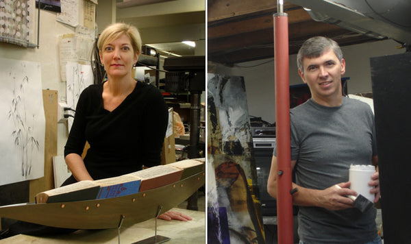 Julie and Ken Girardini Profile Picture in Their Studio
