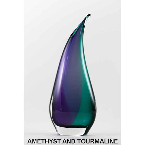 Two Tone Oval Vase Point by Jan Benda Krystyna Glass
