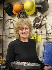 Rosalie Sherman Profile - Rose in her studio