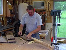 Thomas William Furniture, Artisan handcrafted Furniture working in studio Image 1