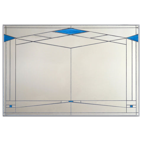 Le Colonial Prairie Style Stained Glass Mirror by Victoria Primicias