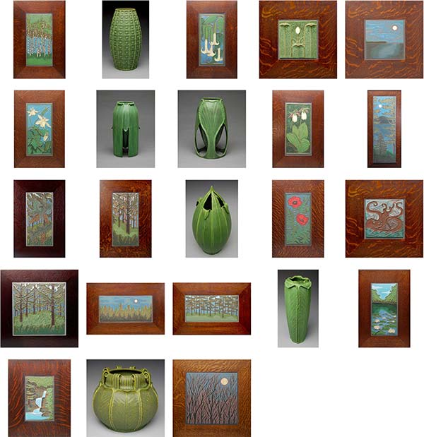 Jonathan White, Odd Inq, Ceramic Tiles and Vases, Arts and Crafts Styled Tiles and Vases