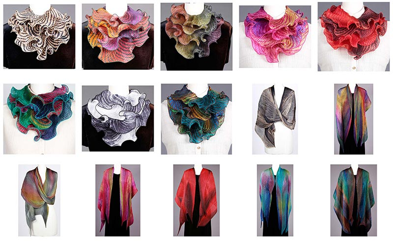 Cathayana Scarves and Shawls, Handwoven Shibori and Silk Scarves and Shawls