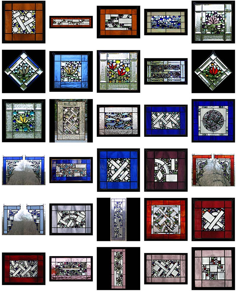 Edel Byrne Glass Art Stained Glass Window Panels