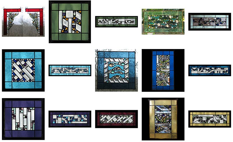 Edel Byrne Glass Art Stained Glass Window Panels 2