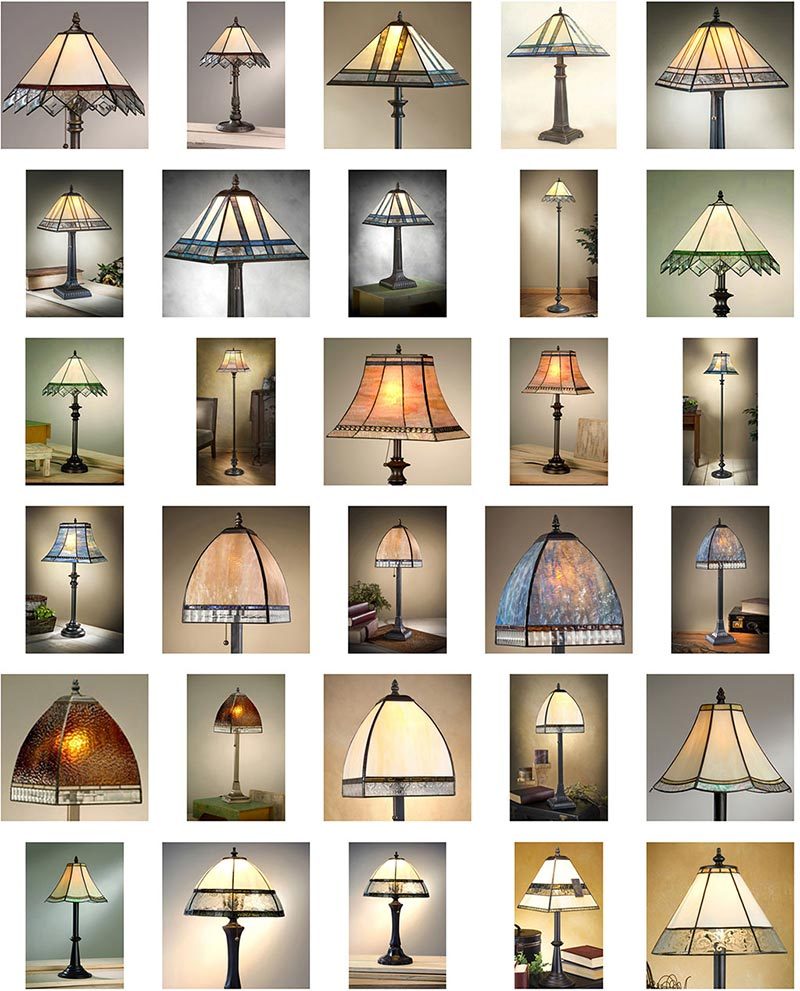 J Devlin Lamps, Tiffany, Mission, Arts and Crafts Group Image