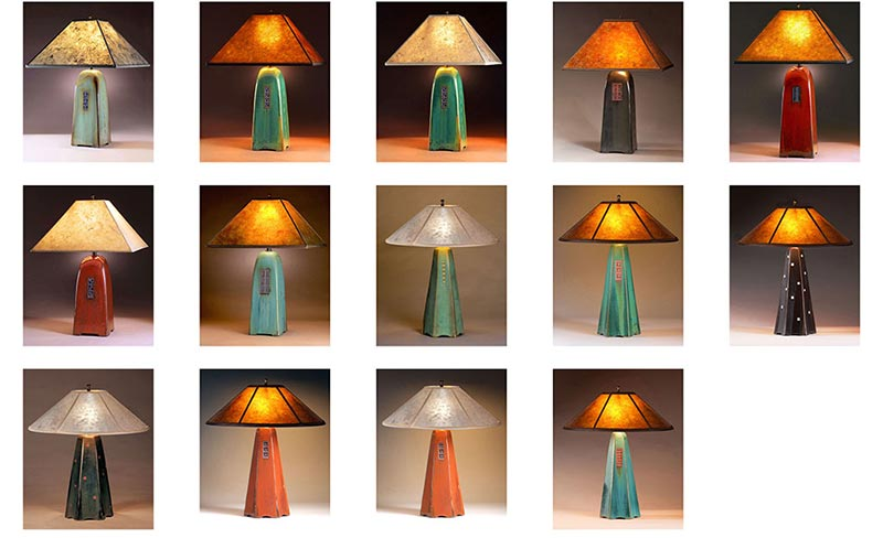 Jim Webb, Studio 233, Ceramic Table Lamps Group Display