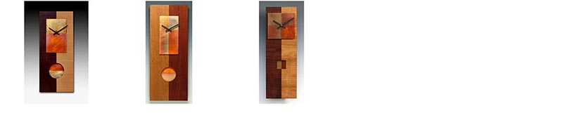 Leonie Lacouette Clocks, Copper, Steel, Wood Wall Clocks, Pendulum Clocks, Artistic Clocks 2