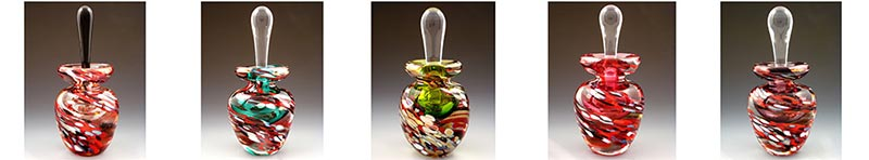 Loretta Eby Hot Glass, Art Glass, Group Image 2