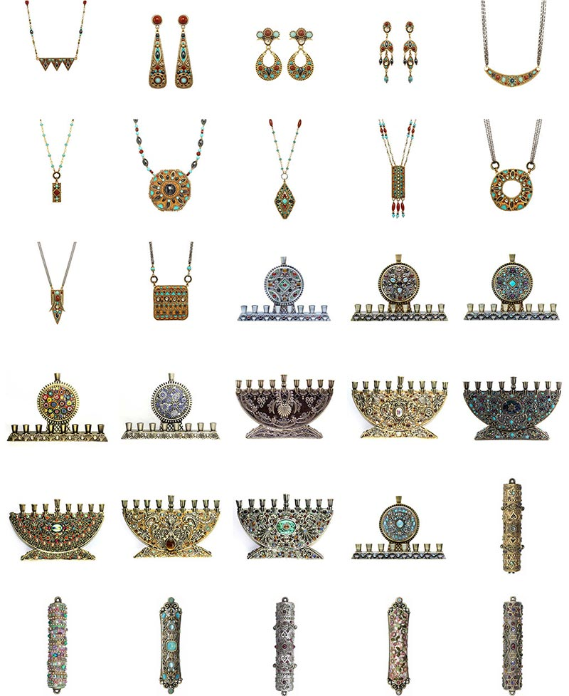 Michal Golan Judaica and Jewelry Group Image 1