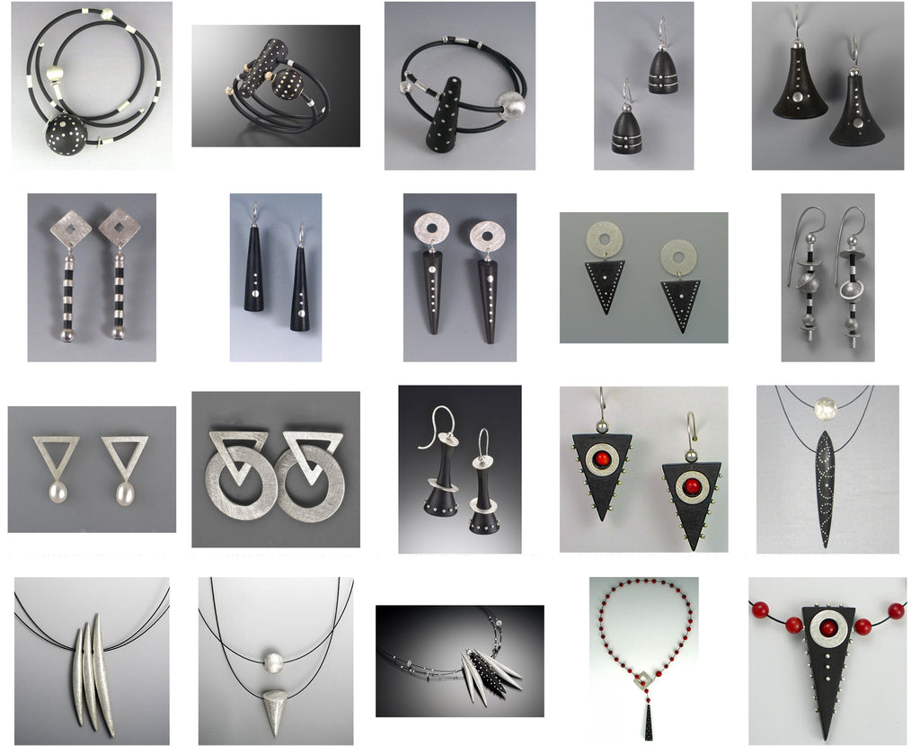 Suzanne Linquist Red Circle Metals Jewelry Group Image