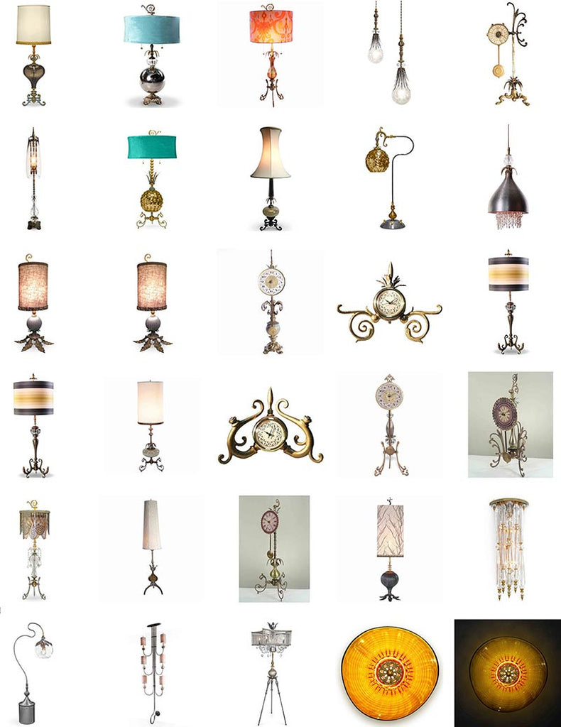 Sweetheart Gallery Brand Lamps and Clocks Group Image 1