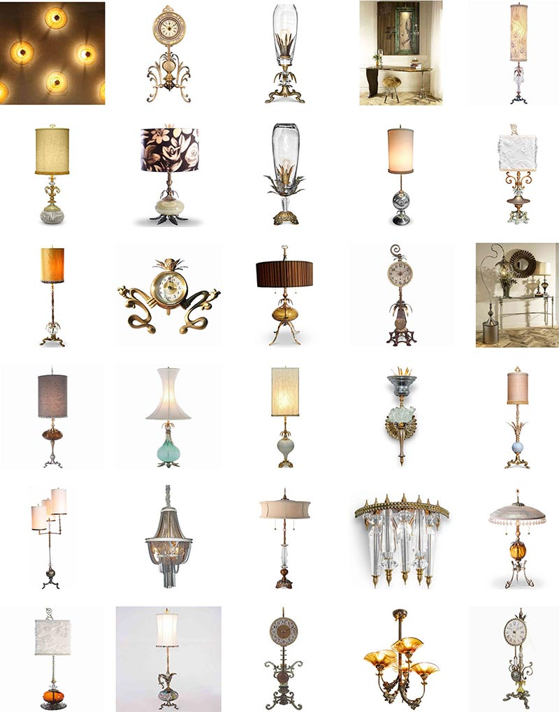 Sweetheart Gallery Brand Lamps and Clocks Group Image 2
