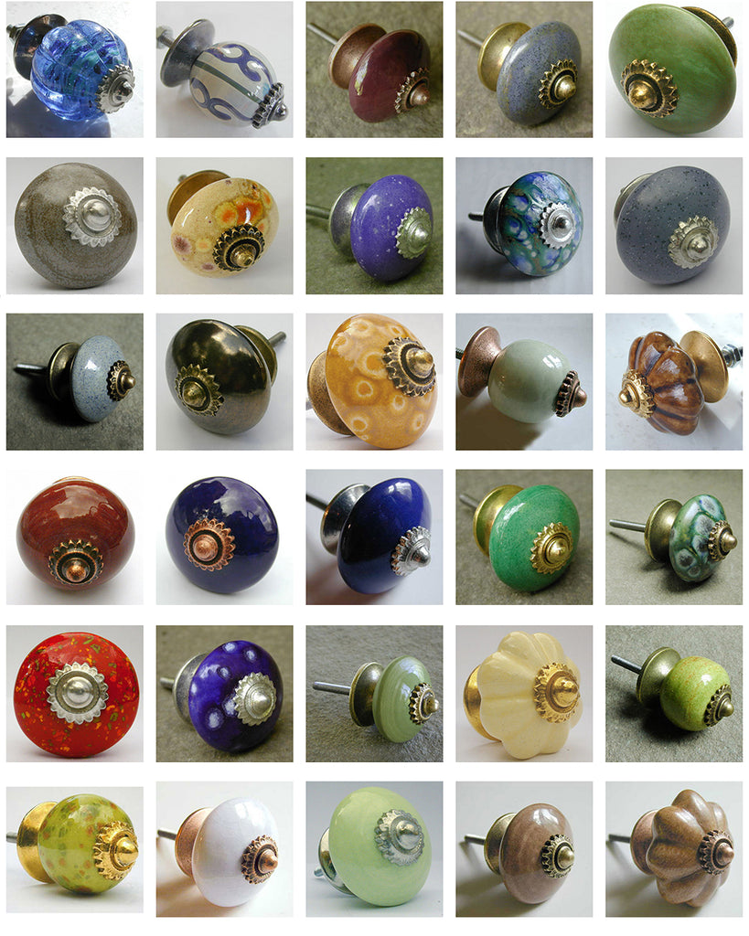 Te-Ma Decorative Cabinet Hardware, Glass, Ceramic, Metal, Tague Nut Pulls and Knobs