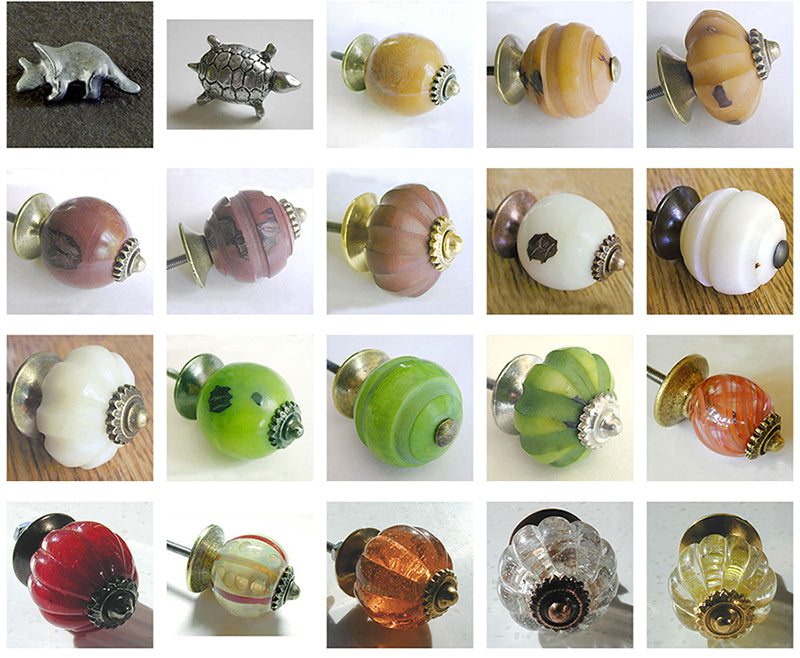Te-Ma Decorative Cabinet Hardware, Glass, Ceramic, Metal, Tague Nut Pulls and Knobs 4