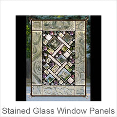 Artistic Stained Glass Window Panels