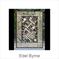 Edel Byrne Glass Art Stained Glass Window Panels, Contemporary Artisan Stained Glass Window Panels