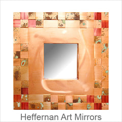 Art Mirrors, Jean and Tom Heffernan, Artistic Handwoven Copper Mirrors