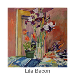 Lila Bacon Artist Painter, Acrylic Floral Paintings