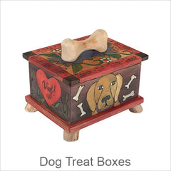 Artistic Dog Treat Boxes, Contemporary Artisan Designer Dog Treat Boxes