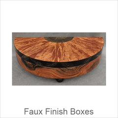 Artistic Faux Finish Boxes, Contemporary Artisan Faux Finish Boxes, Hand Painted Boxes