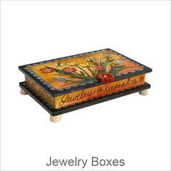 Artistic Jewelry Boxes, Contemporary Artisan Designer Jewelry Boxes, Handmade Boxes