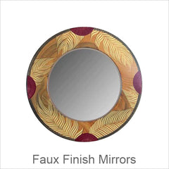Artistic Faux Finish Mirrors, Contemporary Artisan Designer Mirrors