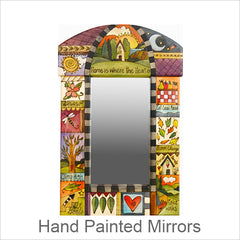 Sticks Mirrors, Hand Painted Artistic Mirrors with Inspirational Words & Phrases