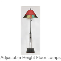 Artistic Adjustable Height Metal Floor Lamps